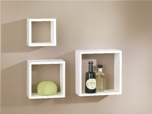 Dolle Floating Shelf Set of Box Frames - Set of 3 - White