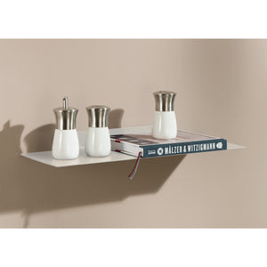 Dolle KATANA Metal Floating Shelf - White - 24""