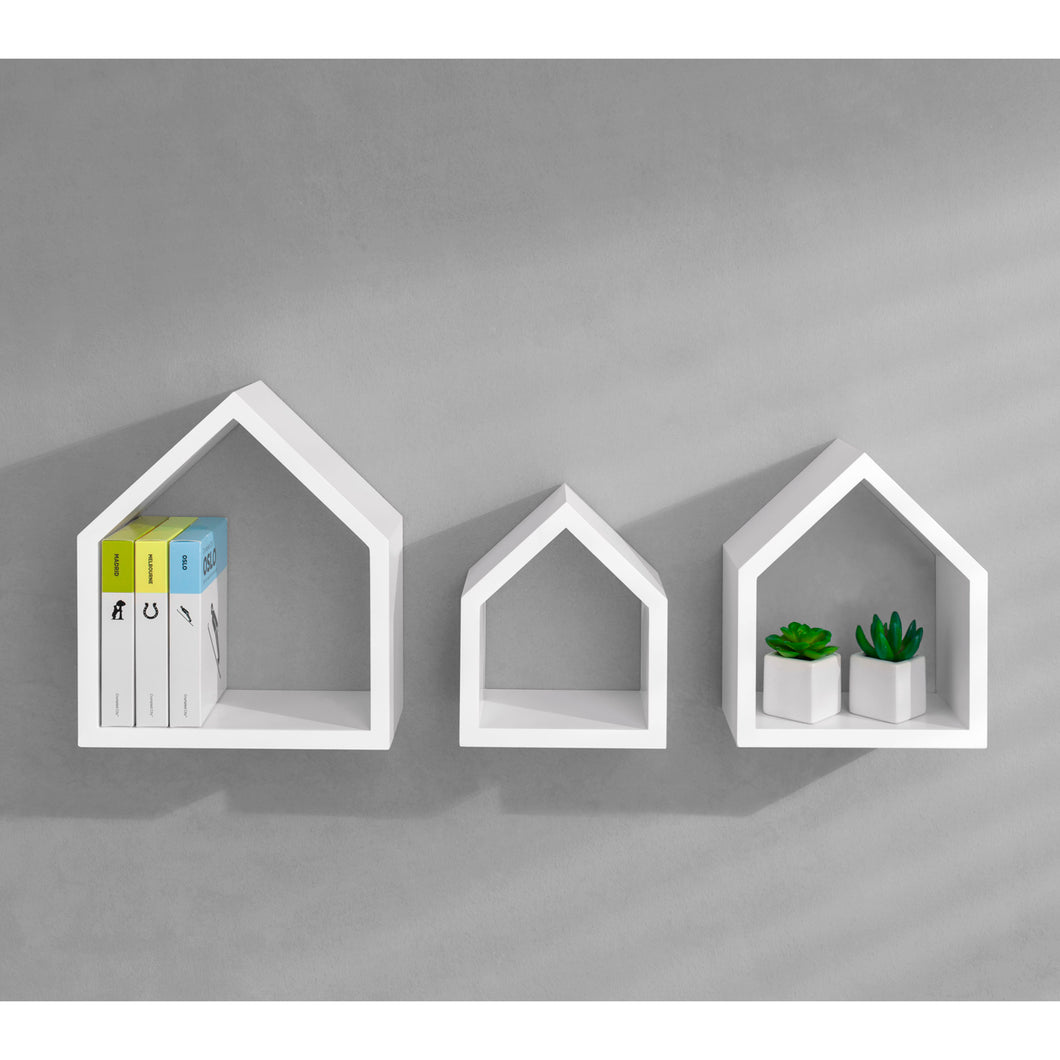Dolle COTTAGE Decorative Shelf 3 pc Set - White