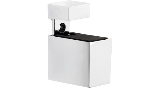 CUADRO Metal Shelf Bracket Set - Chrome
