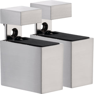 CUADRO Metal Shelf Bracket Set - Stainless Steel