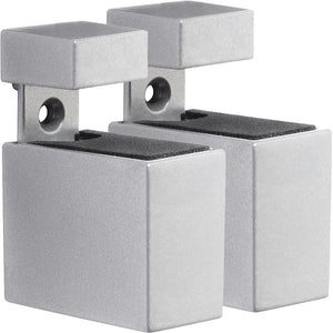 CUADRO Metal Shelf Bracket Set - Silver