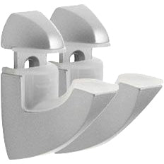 Dolle SCOOP Metal Shelf Bracket Set - Silver