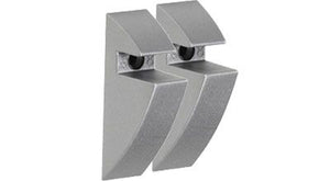 "CLIP 5/16"" Plastic Shelf Bracket Set - Silver"