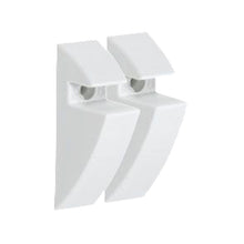 "Load image into Gallery viewer, CLIP 5/16"" Plastic Shelf Bracket Set - White"
