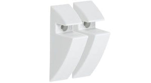 "CLIP 5/16"" Plastic Shelf Bracket Set - White"