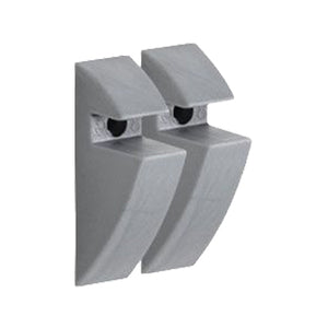 "CLIP 5/16"" Plastic Shelf Bracket Set - Gray"