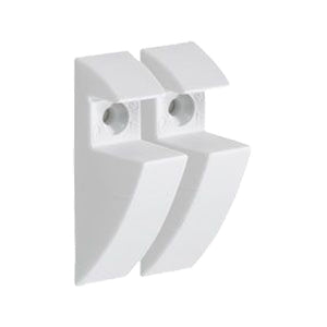 "CLIP 3/4"" Plastic Shelf Bracket Set - White"