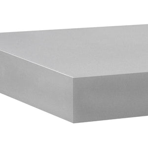 "BIG BOY Floating Shelf - Silver - 45.25"" x 9.75"""