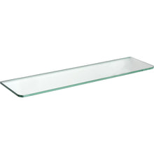 "Load image into Gallery viewer, GLASSLINE Standard Clear Glass Shelf - 23.5"" x 6"""