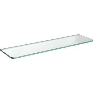 "GLASSLINE Standard Clear Glass Shelf - 23.75"" x 8"""