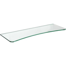 "Load image into Gallery viewer, GLASSLINE Concave Clear Glass Shelf - 23 5/8"" x 8"""