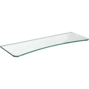 "GLASSLINE Concave Clear Glass Shelf - 23 5/8"" x 8"""