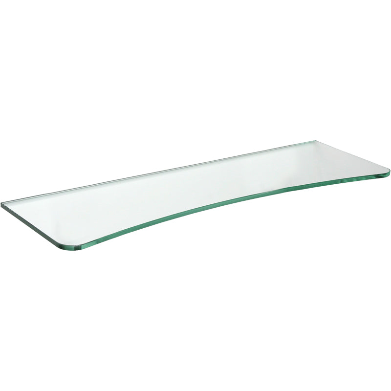 GLASSLINE Concave Clear Glass Shelf - 23 5/8