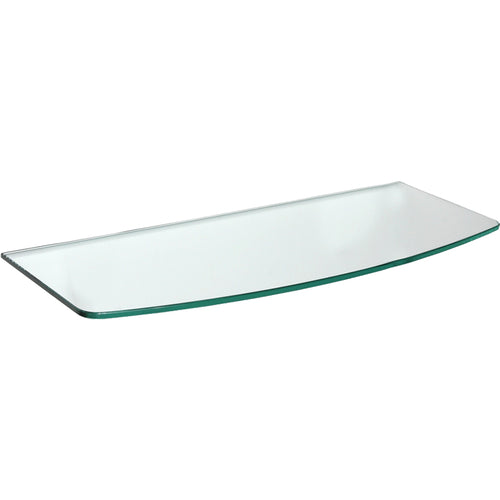 GLASSLINE Convex Clear Glass Shelf - 31.5