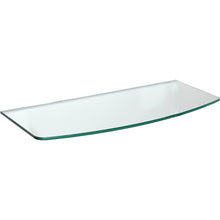 Load image into Gallery viewer, GLASSLINE Convex Clear Glass Shelf - 31.5""