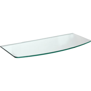 GLASSLINE Convex Clear Glass Shelf - 31.5""