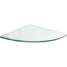 Load image into Gallery viewer, GLASSLINE Clear Glass Corner Shelf - 11.75""