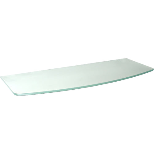 GLASSLINE Convex Frosted Glass Shelf - 23 5/8