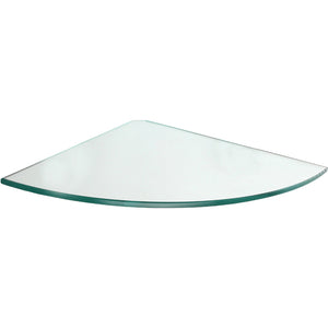 GLASSLINE Corner Clear Glass Shelf - 9.75""