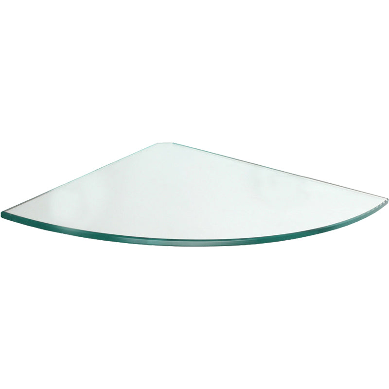 GLASSLINE Corner Clear Glass Shelf - 9.75