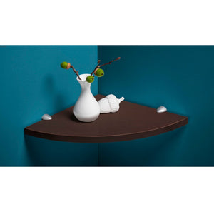Dolle LITE Corner Wall Shelf - Espresso - 12 x 12