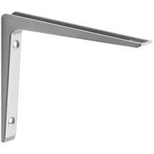 "Load image into Gallery viewer, Dolle PURIST Metal Shelf Bracket - 11.75"" - Silver"