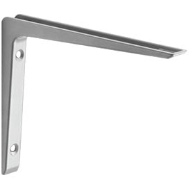 "Dolle PURIST Metal Shelf Bracket - 11.75"" - Silver"
