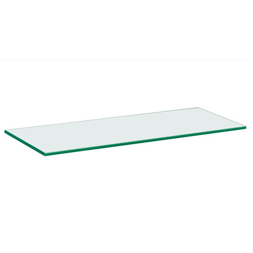 GLASSLINE Clear Glass Shelf - 24 x 8