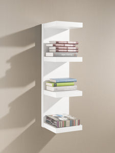 "Domino Floating Wall Shelf - White - 34"" x 10"" x 10"""