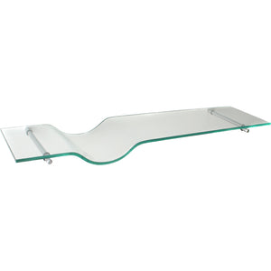 GLASSART/Atlas Beep Clear Glass Shelf Set - 32""