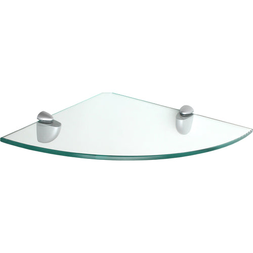 GLASSLINE/Jam Clear Glass Corner Shelf Set - 12