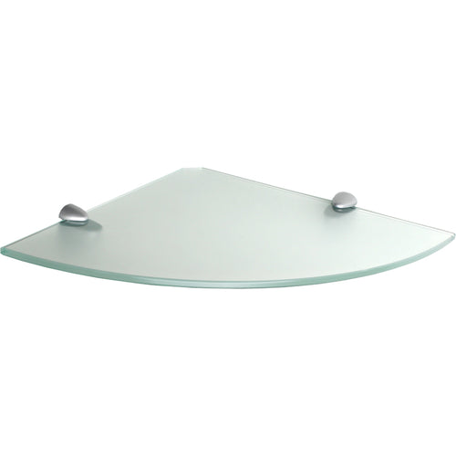 GLASSLINE/Jam Frosted Glass Corner Shelf Set - 12