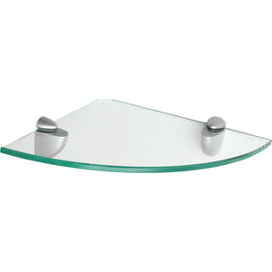 GLASSLINE/Jam Clear Glass Corner Shelf Set - 10""