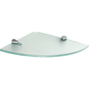 GLASSLINE/Jam Frosted Glass Corner Shelf Set - 10""