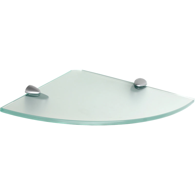 GLASSLINE/Jam Frosted Glass Corner Shelf Set - 10