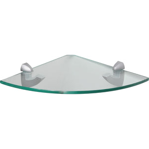 GLASSLINE/Scoop Clear Glass Corner Shelf Set - 10""