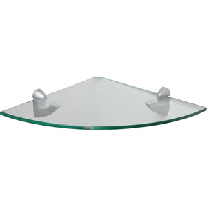 GLASSLINE/Scoop Clear Glass Corner Shelf Set - 12""