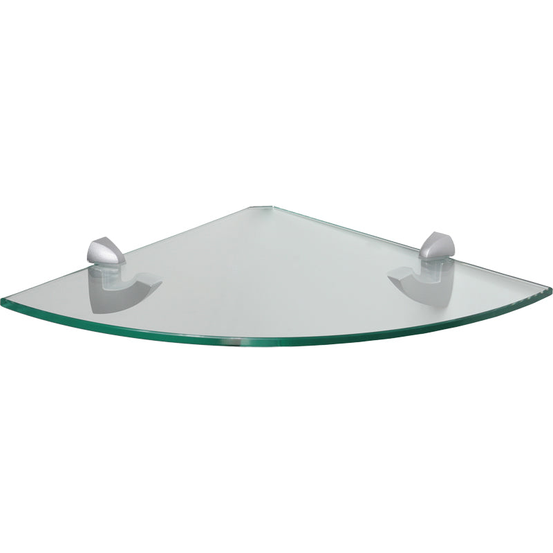 GLASSLINE/Scoop Clear Glass Corner Shelf Set - 12