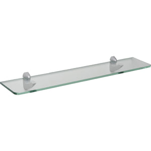 "GLASSLINE/Scoop Standard Clear Glass Shelf Set - 24"" x 5"""