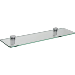 "GLASSLINE/Bin Standard Clear Glass Shelf Set - 24"" x 6"""
