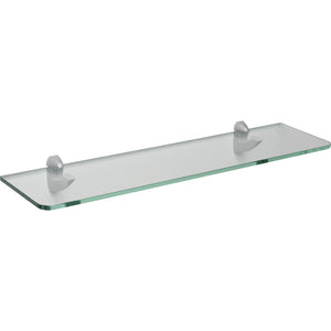 "GLASSLINE/Scoop Standard Clear Glass Shelf Set - 24"" x 6"""