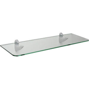 "GLASSLINE/Scoop Maxi Standard Clear Glass Shelf Set - 32"" x 10"""