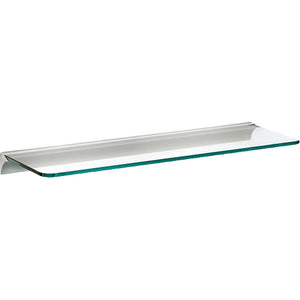 "GLASSLINE/Rail Standard Clear Glass Shelf Set - 32"" x 10"""