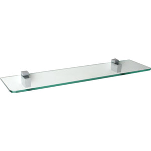 "GLASSLINE/Cuadro Standard Clear Glass Shelf Set - 24"" x 6"""