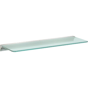 "GLASSLINE/Rail Standard Frosted Glass Shelf Set - 24"" x 8"""