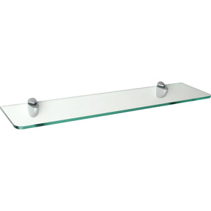 "GLASSLINE/Jam Standard Clear Glass Shelf Set - 24"" x 8"""