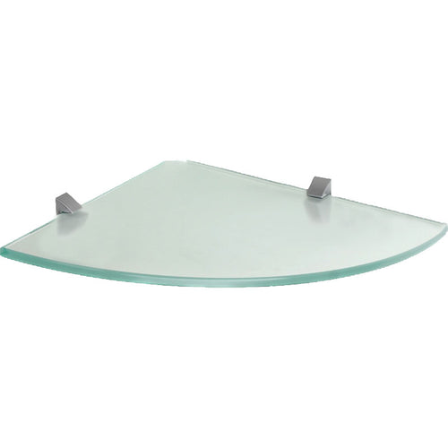 GLASSLINE/Clip Frosted Glass Corner Shelf Set - 10