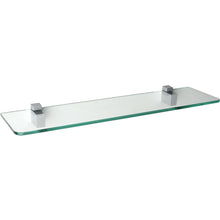 "Load image into Gallery viewer, GLASSLINE/Cuadro Standard Clear Glass Shelf Set - 24"" x 6"""