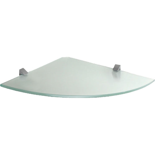 GLASSLINE/Clip Frosted Glass Corner Shelf Set - 12